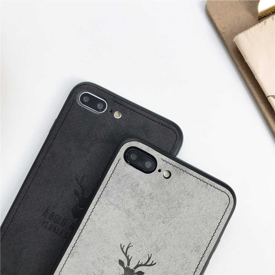 Case Para iphone 5 XS MAX XR X SE 5S 6 6 s 7 8 Mais Tecido Veados Arte Pano capa Huawei Companheiro 10 20 Lite Nova 3 P20 P10 Honra 9 8X