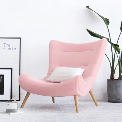 Single sofa Nordic lounge chair snail chair modern minimalist cloth tiger chair dining chair the lounge chair creative cafe chair