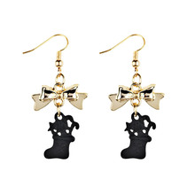 New Fashion Women Dangle Earring Bowknot Christmas Boots Earrings Eardrop Hoops Statement Earrings Brincos Para as mulheres