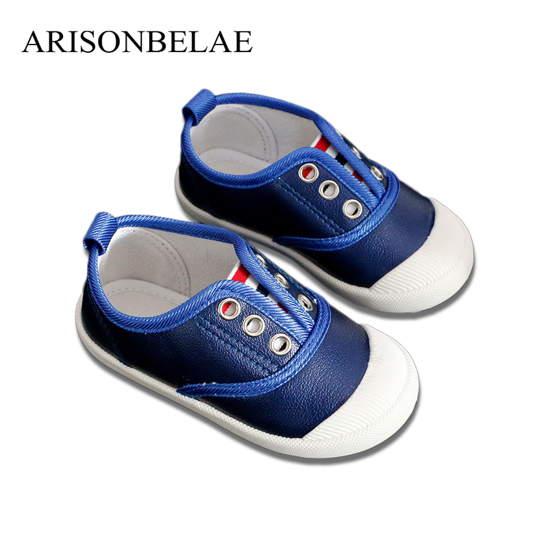 ARISONBELAE Baby Flat Shoes Sport Casual Leather Anti-slip Soft Children Sneakers Pure Color Boys Girls School Shoes Spring