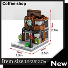 8PCS/Set Mini Street View Building Blocks Ice Cream Shop Compatible With Legoe City ninjago Toys for children adults brinquedos