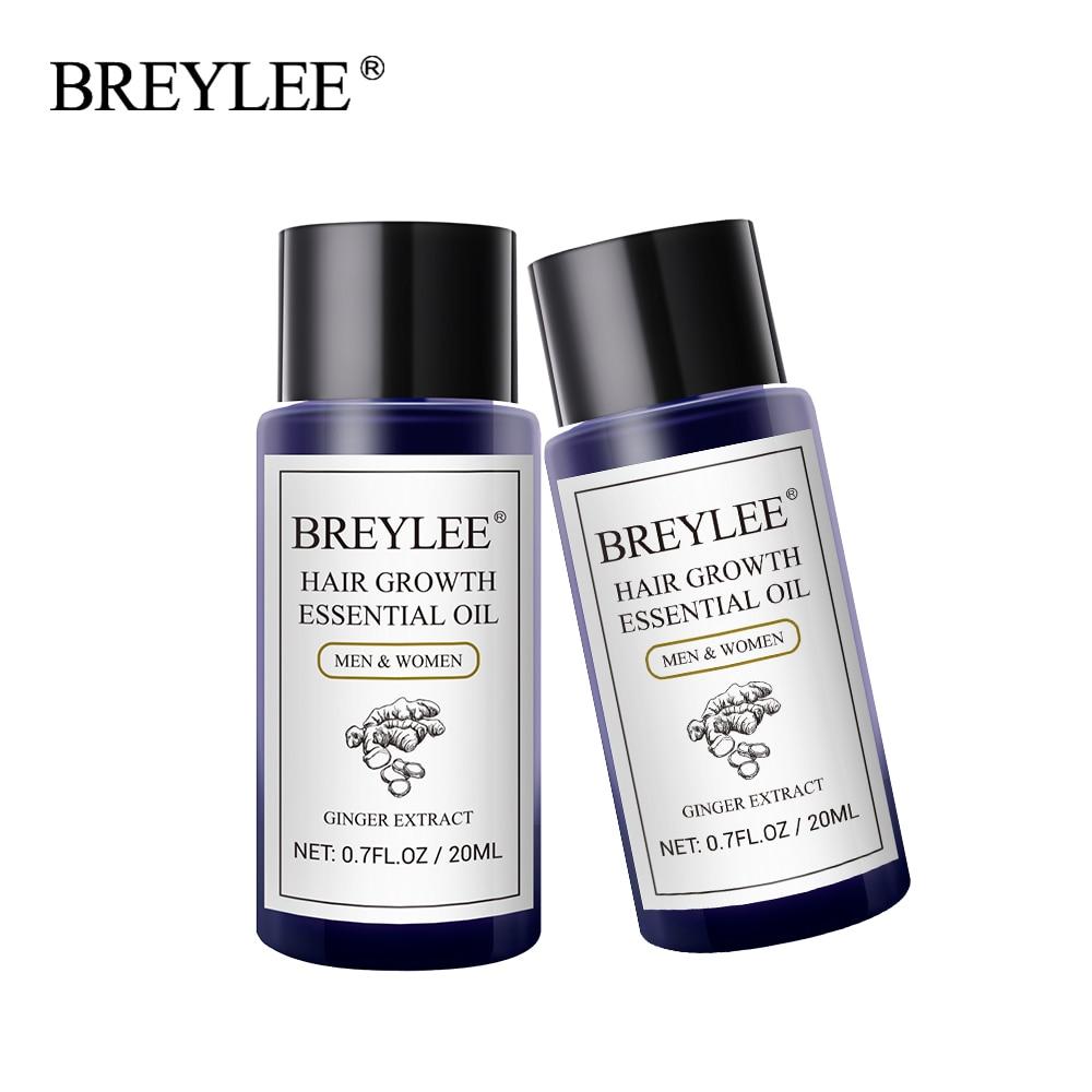 BREYLEE 2PCS Hair Growth Essential Oil Fast Powerful Hair
