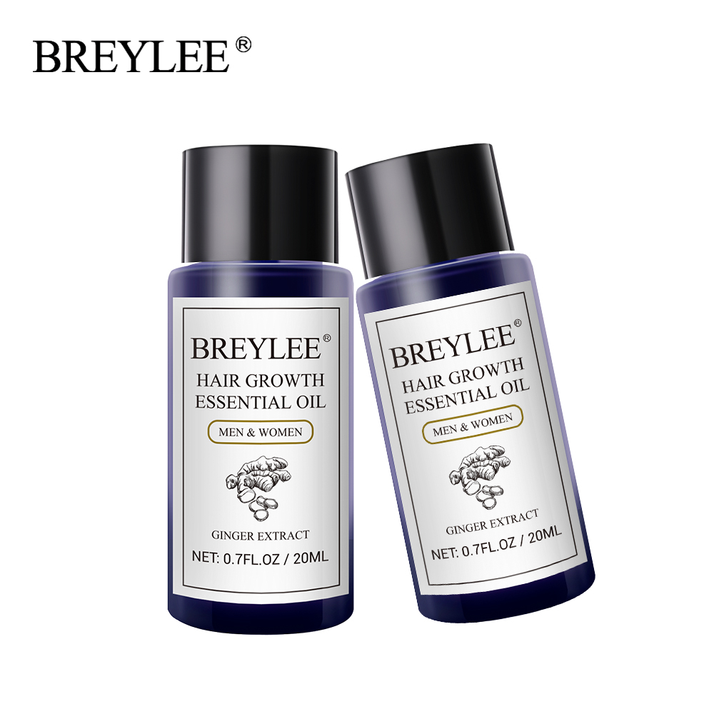 BREYLEE 2PCS Hair Growth Essential Oil Fast Powerful Hair Pr