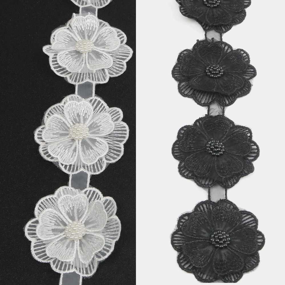 Acessórios DIY Rendas Tecido Tule Casamento Floral Para O Vestido Africano 12 pcs 3D Flor Do Laço Bordado Cortina de Pano Decoração