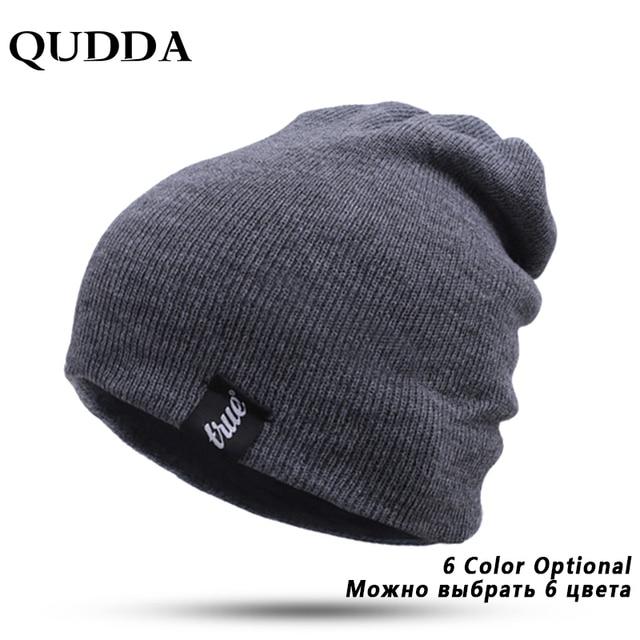 0d6a810abbd QUDDA Brand Winter Hat For Men Skullies Beanies Women Fashion Warm Cap  Unisex Elasticity Knit Beanie Hats Drop Shipping
