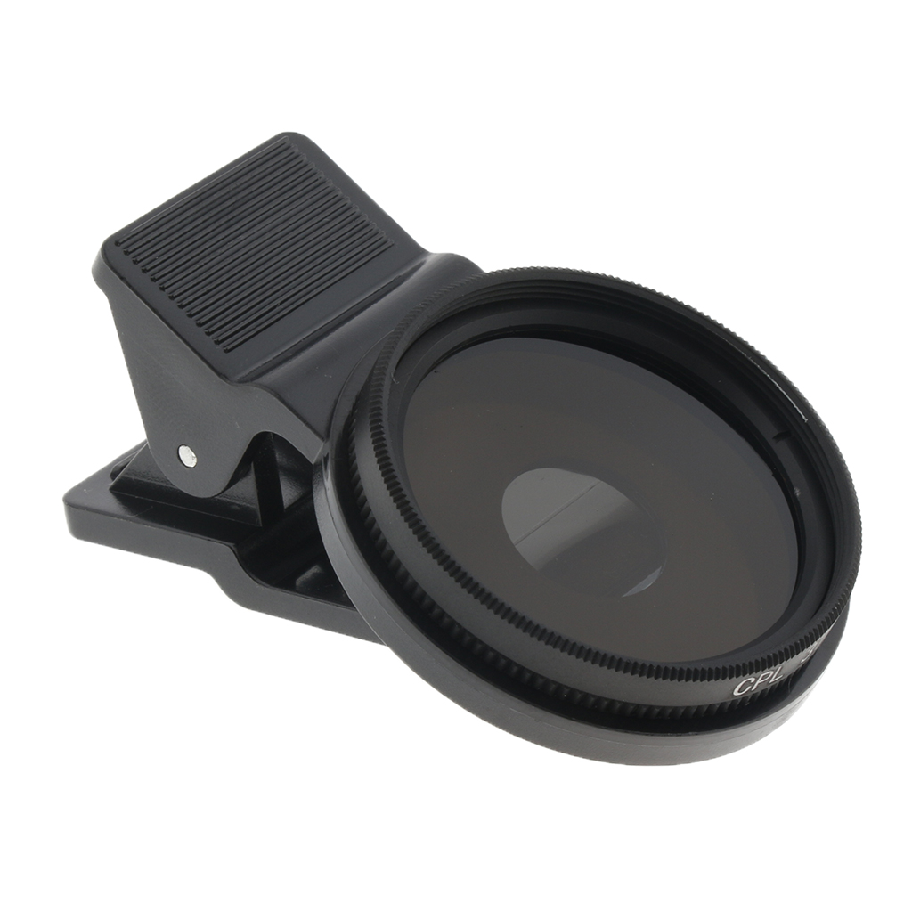 LENS-FILTER Phone-Lens Maintain Polarizer Slim 37mm--Clip Circular 1set Ultra CPL