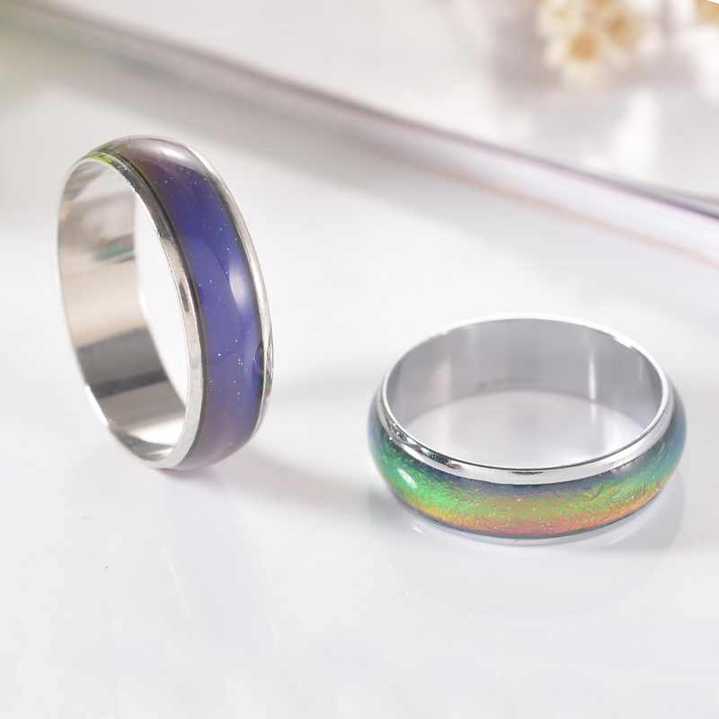 Creative Christmas Gift For Children parents  Emotion Mood Ring  Alloy Color Changing Feeling Ring Party Supplies