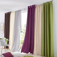 Spring 2016 Wonderful Microfiber Tab Top Rope Sitting Room Window Curtains For Living Room Tab Tape
