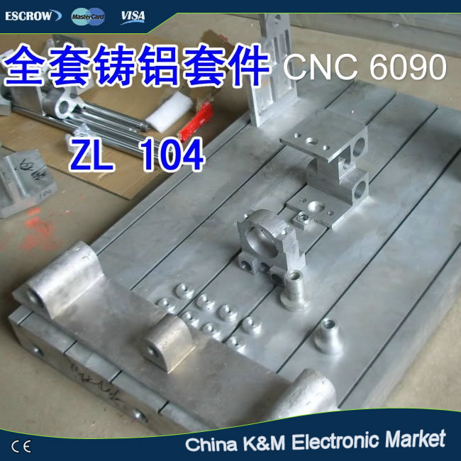 Customized CNC 6090 engraver Frame kit with bed lathe ball screw optional axis bearing stepper motor and coupler