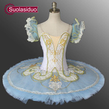 цены Women Nutcracker Ballet Tutu Blue Bird Swan Lake Professional Ballet Classical Ballet Tutu For Girls Pancake Tutu SD0004