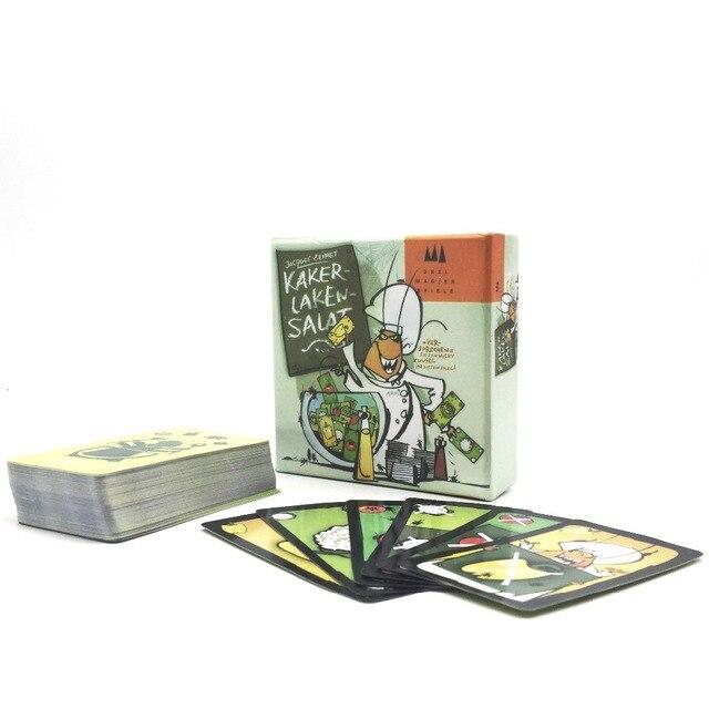 2017 tarjetas de juego caliente Kakerlaken Salat, alta calidad mejor juego de mesa muy conveniente para el partido de la familia jugando a las cartas