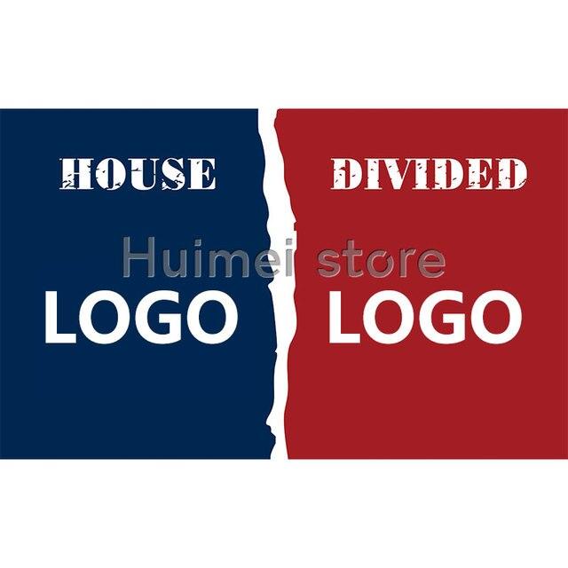 House Divided Flag 3x5ft New England Flag Vs Banner Washington Flag Banner