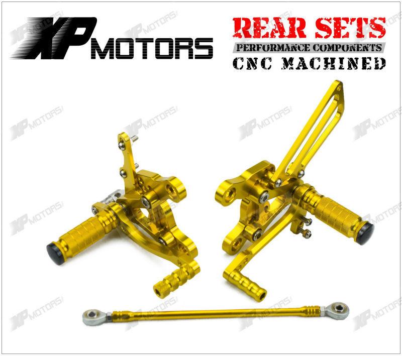 Gold Racing CNC Billet Foot Pegs Adjustable Rearset Footrest Rear Sets For Honda CBR900RR SC28 1992 1993 1994 1995 meziere wp101b sbc billet elec w p