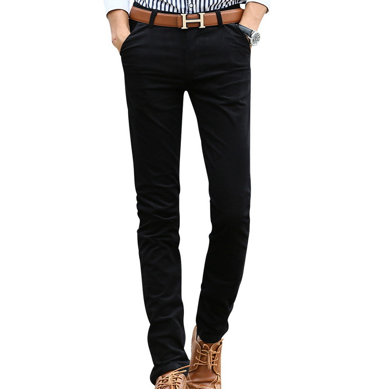2015 hombres de moda de corea pantalones casuales con dos