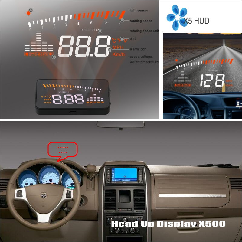 купить Information Projector Screen For Dodge Dakota Grand Caravan Journey - Safe Driving Refkecting Windshield Car HUD Head Up Display по цене 3580.07 рублей