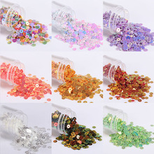 4mm Golden Sequin glitter sewing sequins paillette sequin trim for Nail Art Wedding decor sparkles with girl clothes