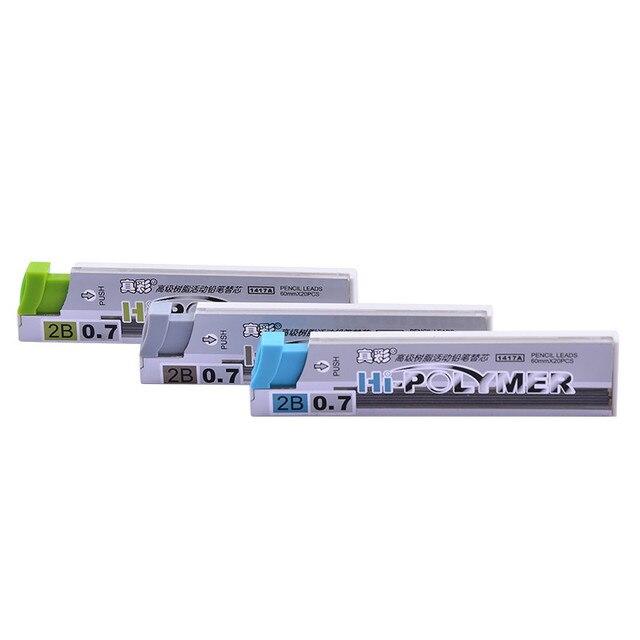 10 tubes/lot crayon mécanique plomb résine recharge fils 2B 0.5mm & 0.7mm pour bureau et fournitures scolaires papeterie livraison gratuite