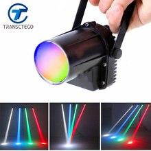 TRANSCTEGO LED disco light spotlight beam rain lights stage lamp small moving head LED glass balls bars party KTV lighting