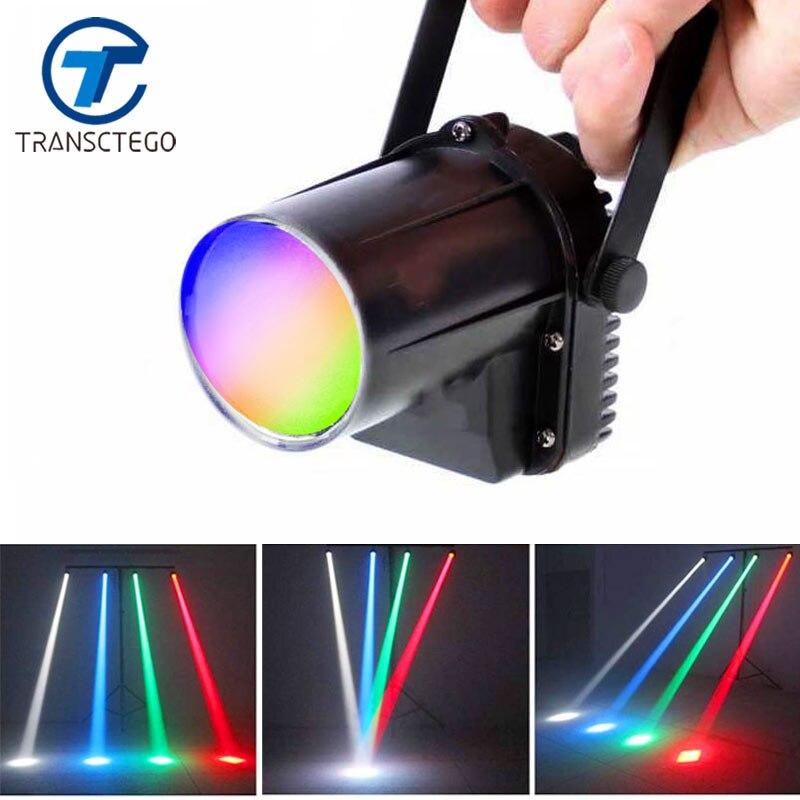 Transctego светодиодный свет диско Spotlight луч дождь огни этап лампа небольшой перемещение головы LED стеклянные шары баров партии КТВ Освещение ...