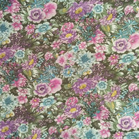 160CM Width Blue Floral Printed 100 Cotton Fabric Floral Upholstery Fabric Free Shipping