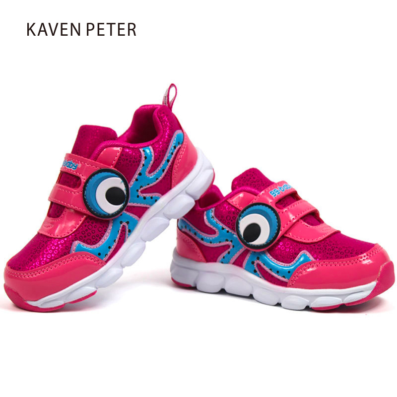 Girls sneakers kids running shoes 2017 sport shoes boys casual shoes octopus cartoon child gym shoes soft antiskid rubber sole 2016 spring child sport shoes leather boys shoes girls wear resistant casual shoes