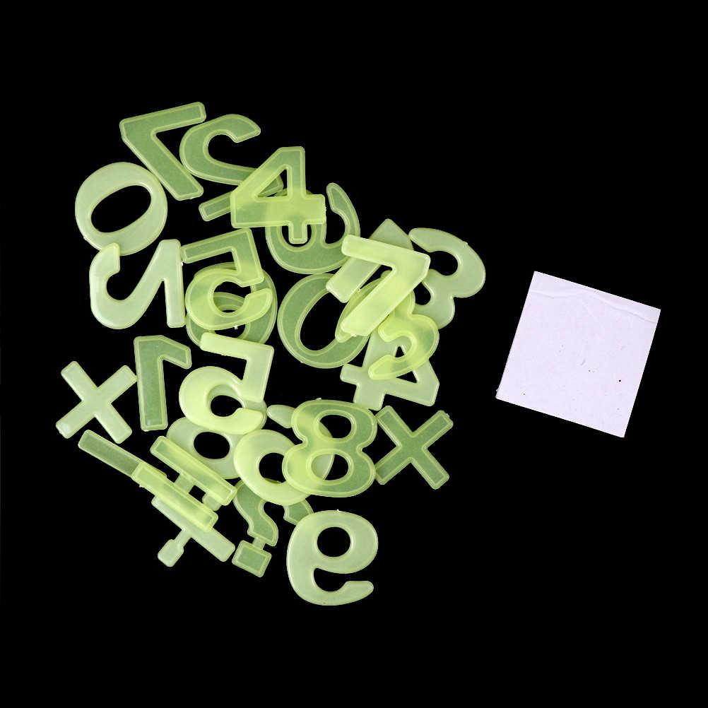 Aufkleber Tapete 26 stücke Glow In Dark Anzahl Abbildung Leuchtende Fluoreszierende Bildung Aufkleber Kunststoff Wand Aufkleber Wohnkultur