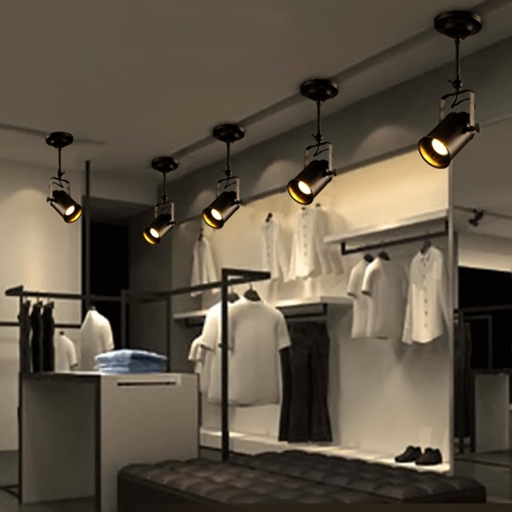 Retro Loft Vintage LED Track Light Industrial Ceiling Lamp Bar Clothing Personality spotlight Light Double /Three Heads led track light50wled exhibition hall cob track light to shoot the light clothing store to shoot the light window