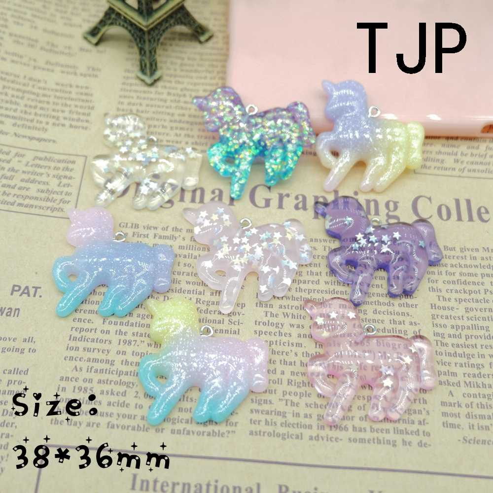 Kawaii unicorn Charms Pendants for DIY  decoration bracelets necklace earring key chain Jewelry Making