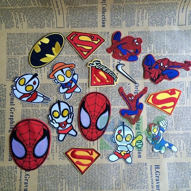 Pcs lot mix design superhero comics embroidered iron on