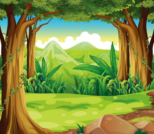 Online Buy Wholesale cartoon forest background from China ...