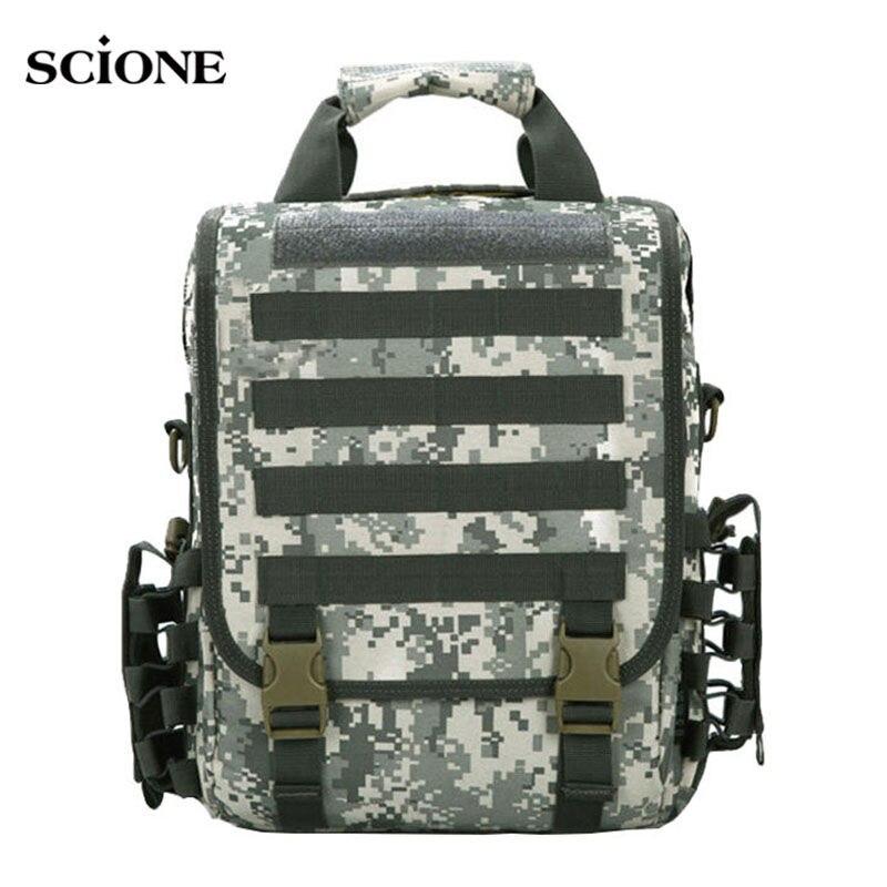 Military Laptop Backpack Tactical Men Crossbody Travel Bags Sports Molle Backpacks Waterproof School Bag Handbag Camping XA164WA