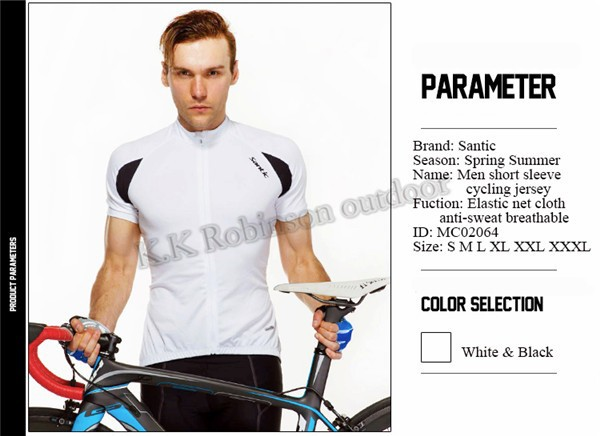 76670611e HOT! Men Santic Cycling Jersey Short Sleeve MTB Road Bike Shirts ...