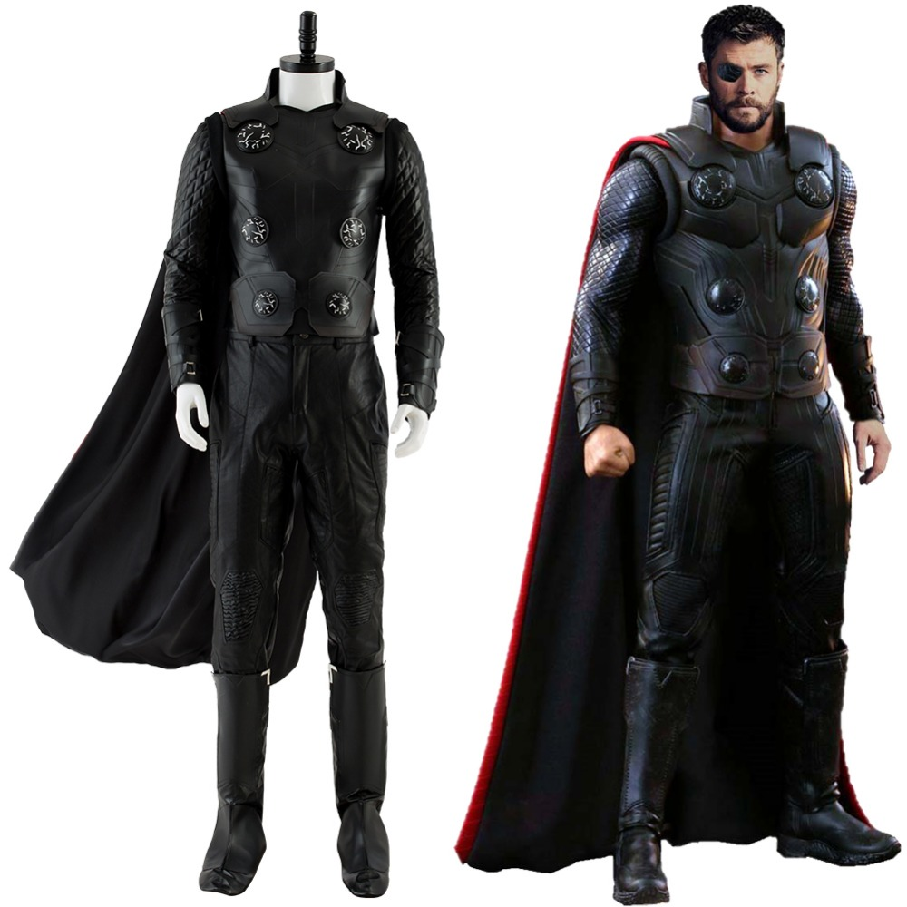 Avengers III Infinity War Thor Cosplay Costume Outfit Men's Halloween Cosplay Costume for Males Females Adults