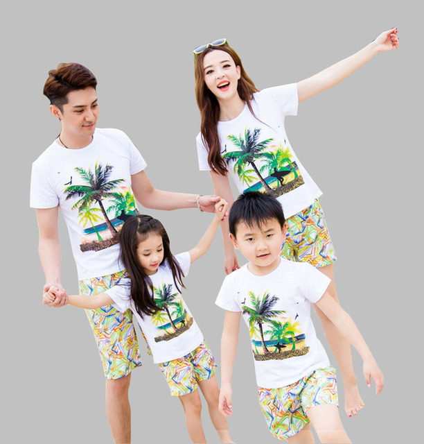 f5ec5cb42 New arrival family clothes mother father daughter set t shirt+shorts family clothing  outfits for