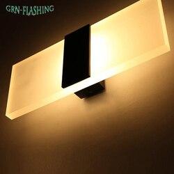 3 Вт/5 Вт/6 Вт led акриловые настенный светильник AC85-265V Настенные Бра Лампа декоративная Гостиная спальня коридор настенные светильники
