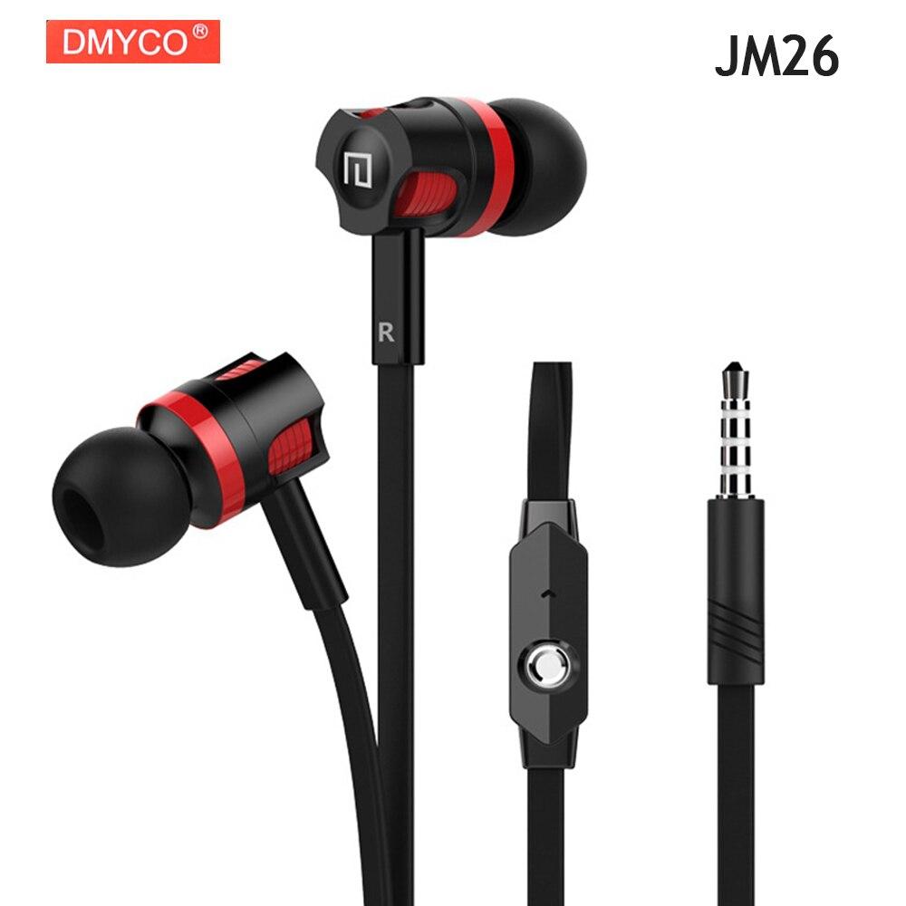 Universel DMYCO JM26 Casque Écouteurs D'origine Bonne Qualité Professionnel Portable Casque + Microphone pour Smart Mobile Téléphones