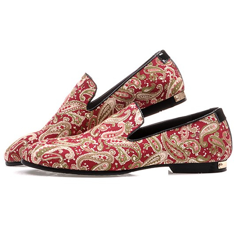 ФОТО US 6-9 HIGHT Top Quality NEW Fashion mens Casual  Floral Print Pointed Toe Slip on Loafer Driving Car Shoes