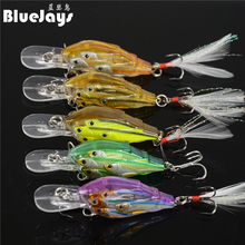 2017 NEW hot sales group of 5 colors/6.5g/ 6.5cm fishing slow sink / ultrasonic group of fish baits Wobbler Bait Swim Lure Pike