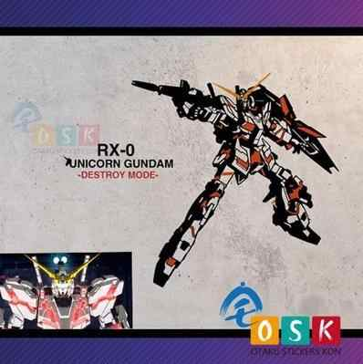 Pegatina Anime SEED RX-0 unicornio GUNDAM vinilo pared calcomanías decoración hogar decorativo dibujos animados