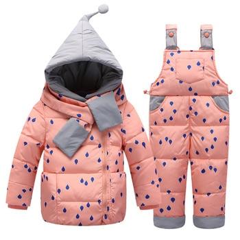 ¡Novedad de 2020! Conjunto de chaqueta y pantalones de invierno para bebés y niñas, conjunto de trajes de ropa para niños, chaqueta de plumas para niñas de 0 a 4 años