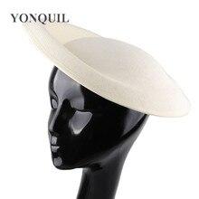 Винтажная однотонная имитация sinamay 30 см большая шляпа-чародей База Дерби DIY шляпа аксессуары для женщин Свадебная вечеринка ремесло головной убор