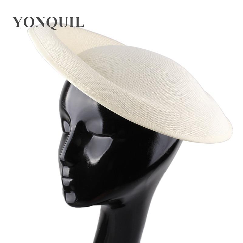 Vintage Solid Imitation Sinamay 30 CM Big Fascinator Hat Base Derby DIY Hat Accesories For Ladies Wedding Party Craft Headpiece
