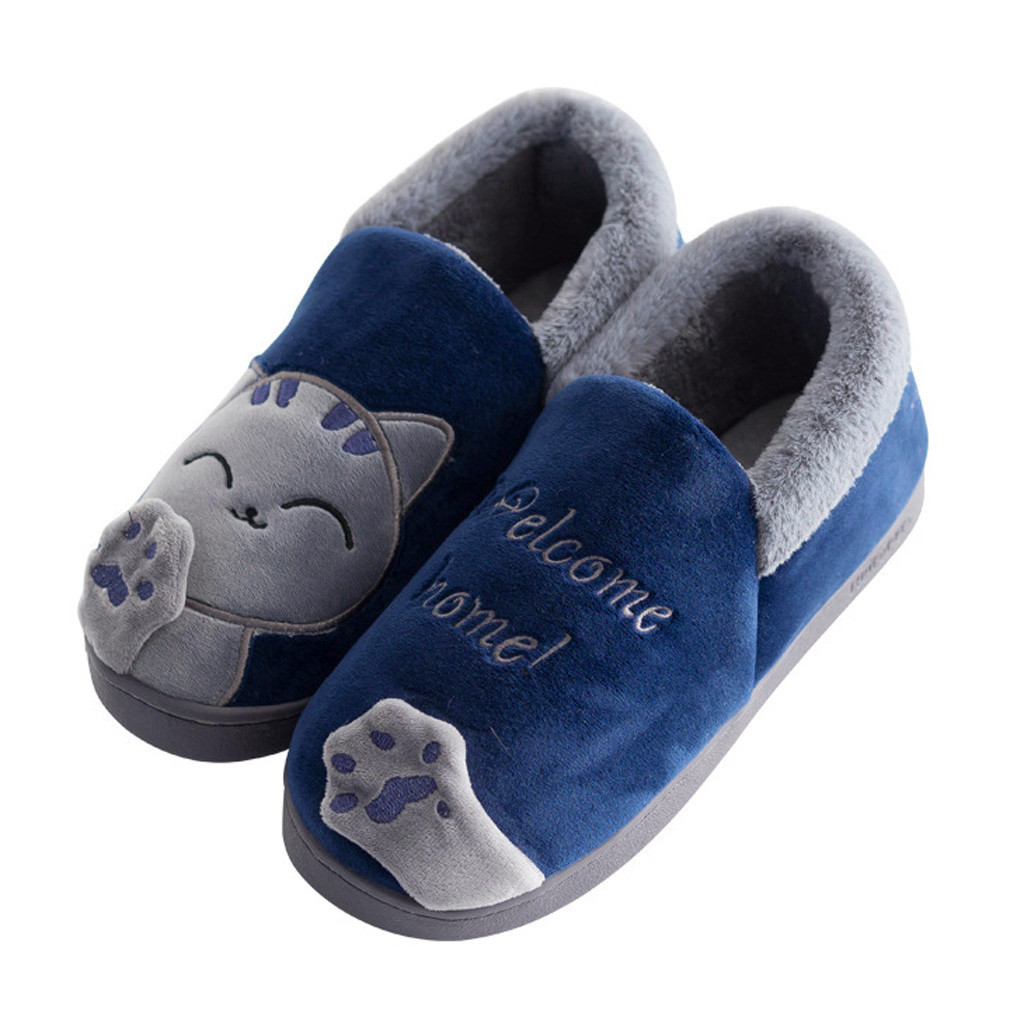 103c0e398a68f ... Beach Sandal Flip Flops Shoes A0511 30. US  5.11. Winter Men Slippers  Cartoon Cat Couple Cotton Men Slippers Indoor Soft Thick Bottom Warm  Slippers ...