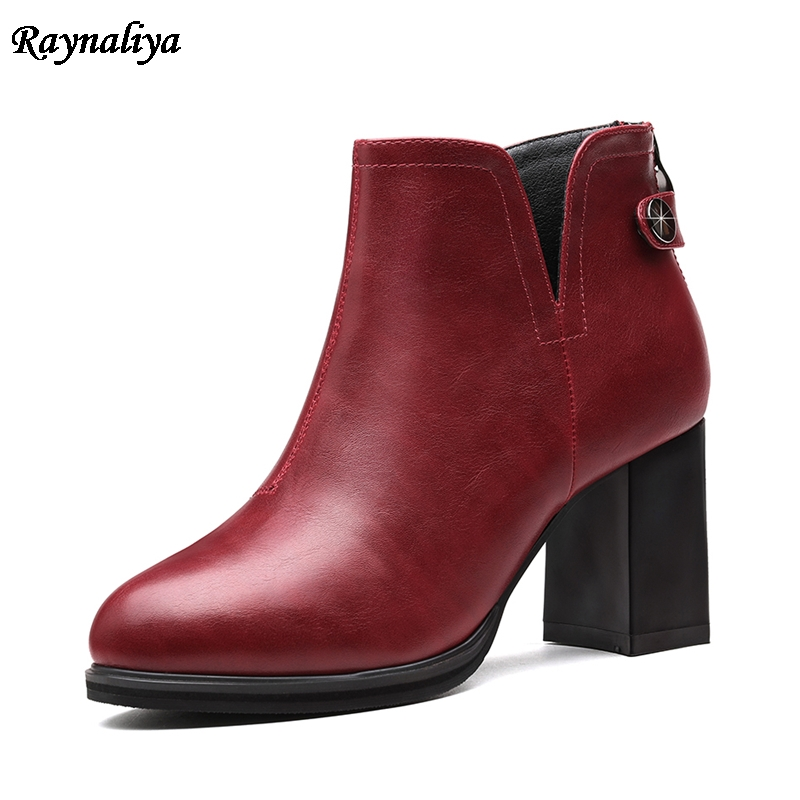 Designer Women Boots Shoes Women High Heels Ankle Boots Zipper Round Toe Glitter Martin Boots Ladies Shoes Large Size LSN-A0011