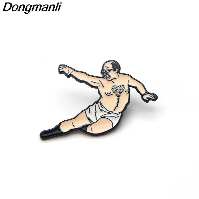 P2714 Dongmanli senza tempo di Arte di Seduzione Dello Smalto Spille s e Spille per Le Donne Degli Uomini del Risvolto Spille zaino distintivo