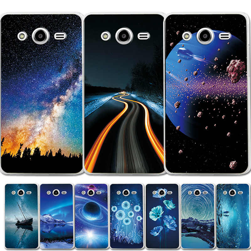 Silicone Phone Case Bumper For Samsung Galaxy core2 core 2 SM G355H Cover G355M SM-G355h/ds Duos Brilliant Magic Planet Case