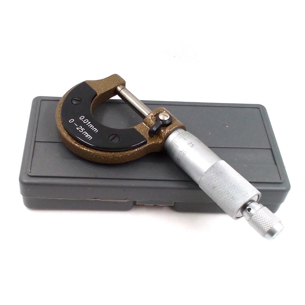 0 25mm 0 01mm Measureing Tool 0 25mm Micrometer Jewelers Tools Vernier font b caliper b