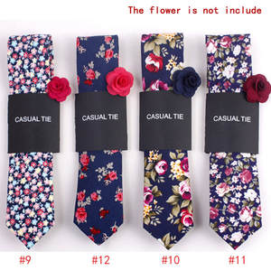 Tie-Suit Necktie Skinny-Ties Wedding Floral-Print Christmas-Party Slim Cotton New-Fashion