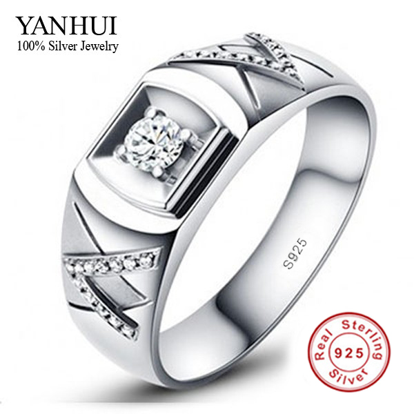 lovers 925 sterling silver ring couple 1 carat cz diamant wedding rings for men and women jzr014 - Wedding Rings For Couples