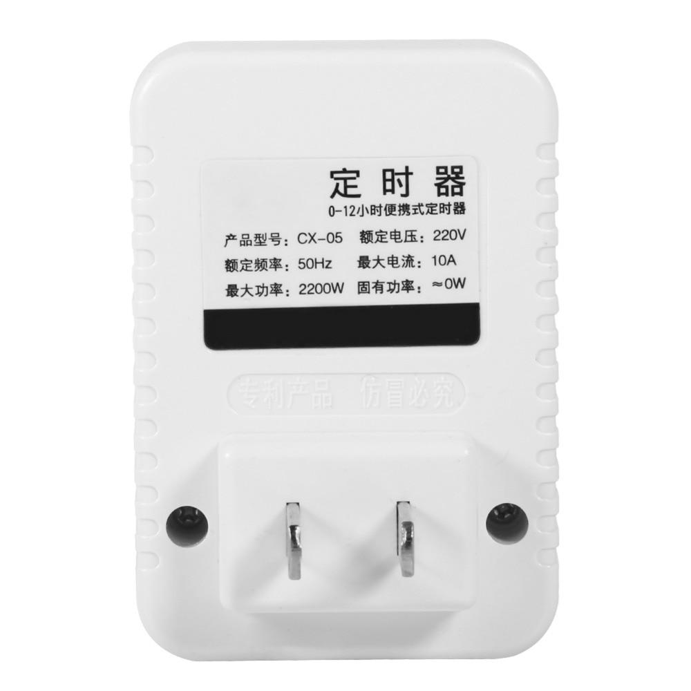 Ac 220 V 12 Stunde Elektrische Mechanische Timer Wand Stecker Schalter Digitale Countdown-timer Steckdose Werkzeuge Messung Und Analyse Instrumente